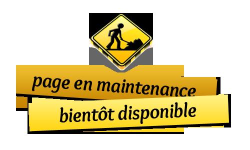 Page en maintenance